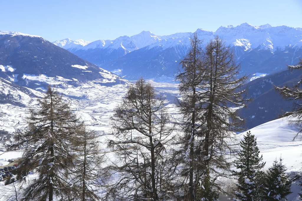 Val Venosta in Zuid-Tirol (Italië)