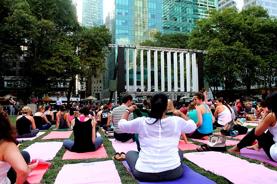 Free Yoga Bryant Park New York
