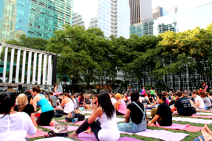Free Yoga Bryant Park New York