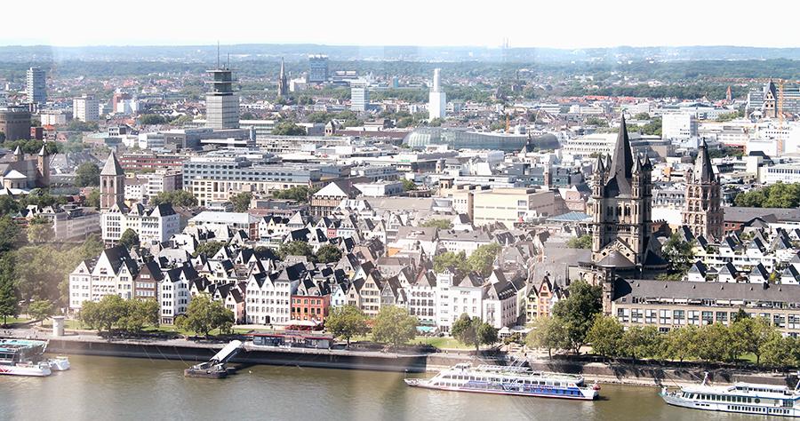 Panorama gebouw Keulen uitzicht