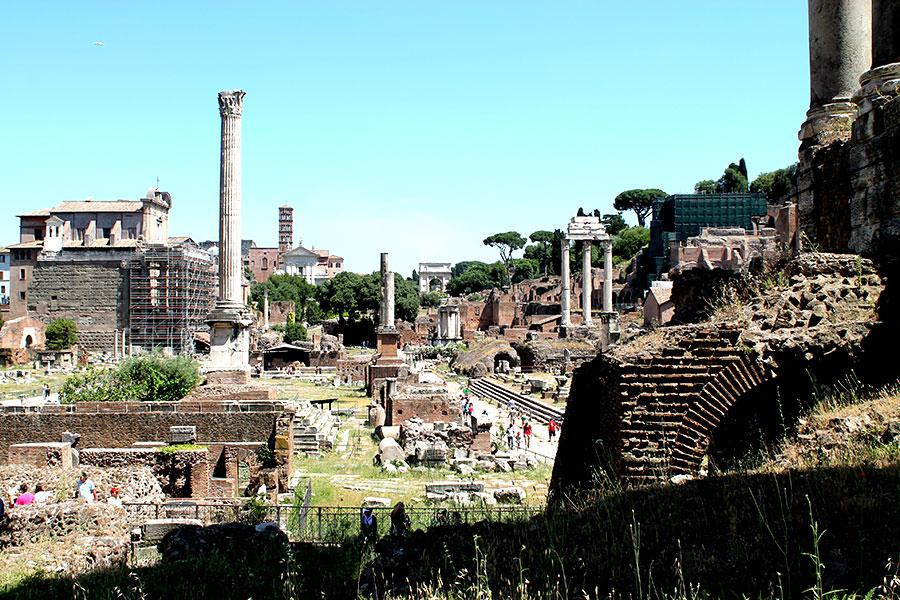 Rome, Forum Romanum, Reizen