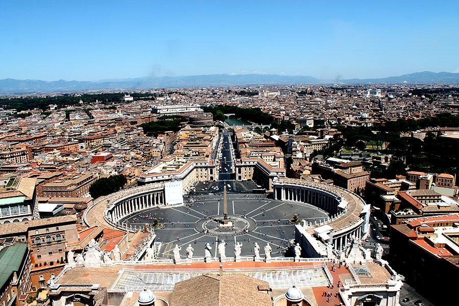 Rome uitzicht Vaticaanstad, Sint Pieter