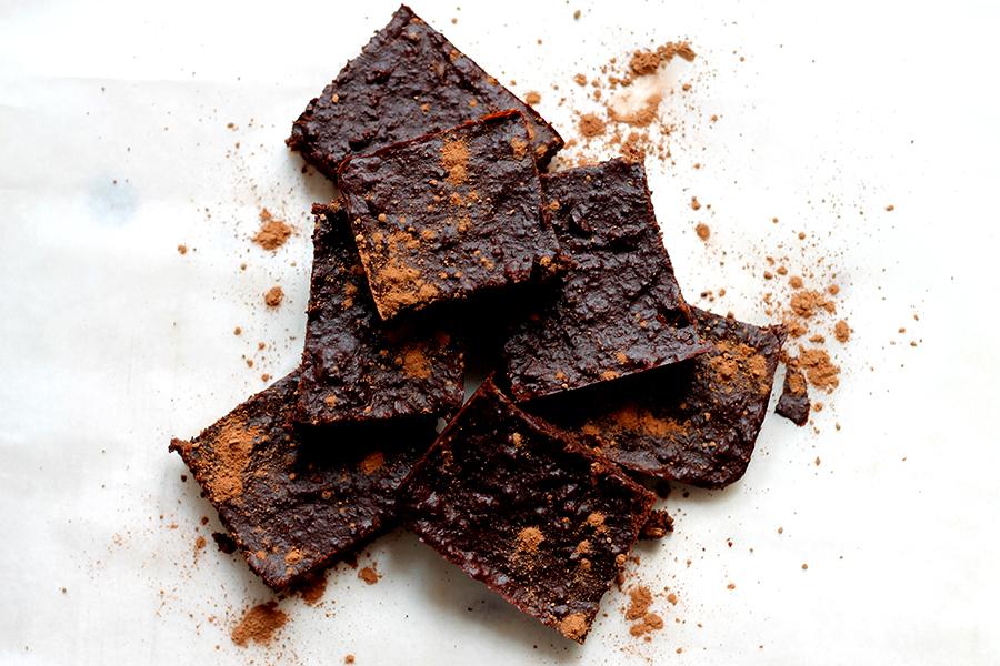 Gezonde voeding, Gezonde snack, Healthy brownie, zoet, recepten