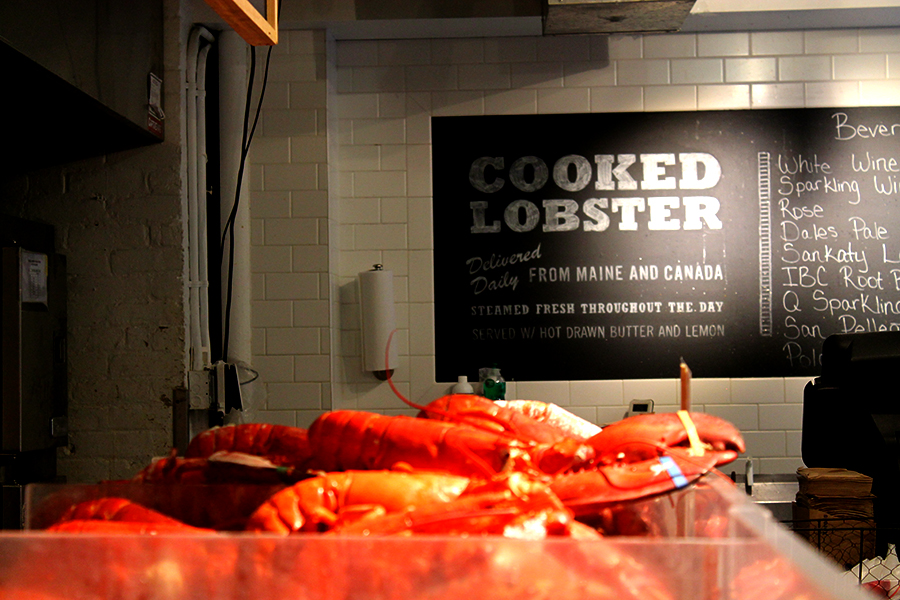 Sushi eten in New York City bij Lobster Palaca Chelsea MArket