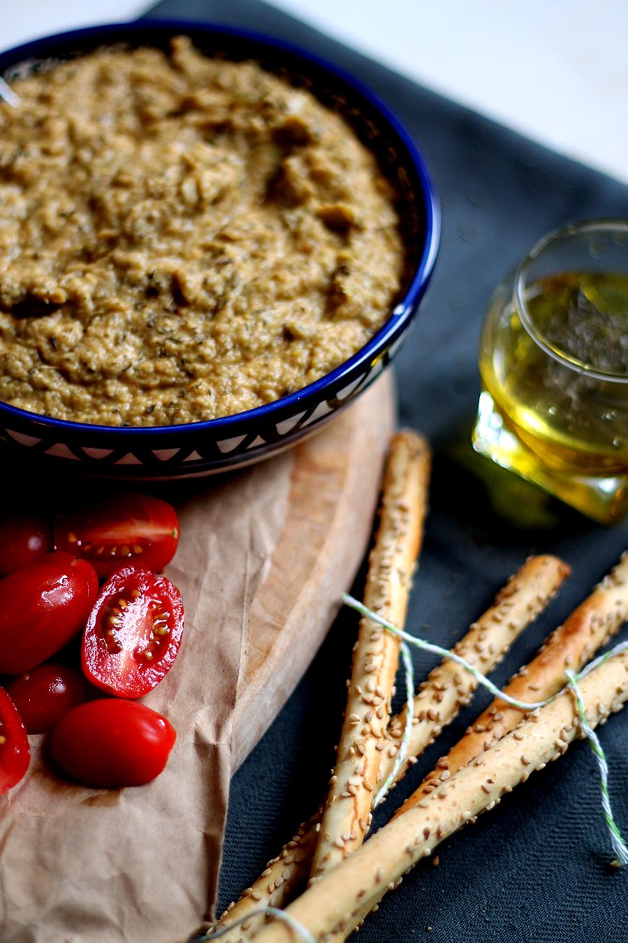 Antipasta met artisjokkendip, gezonde snack