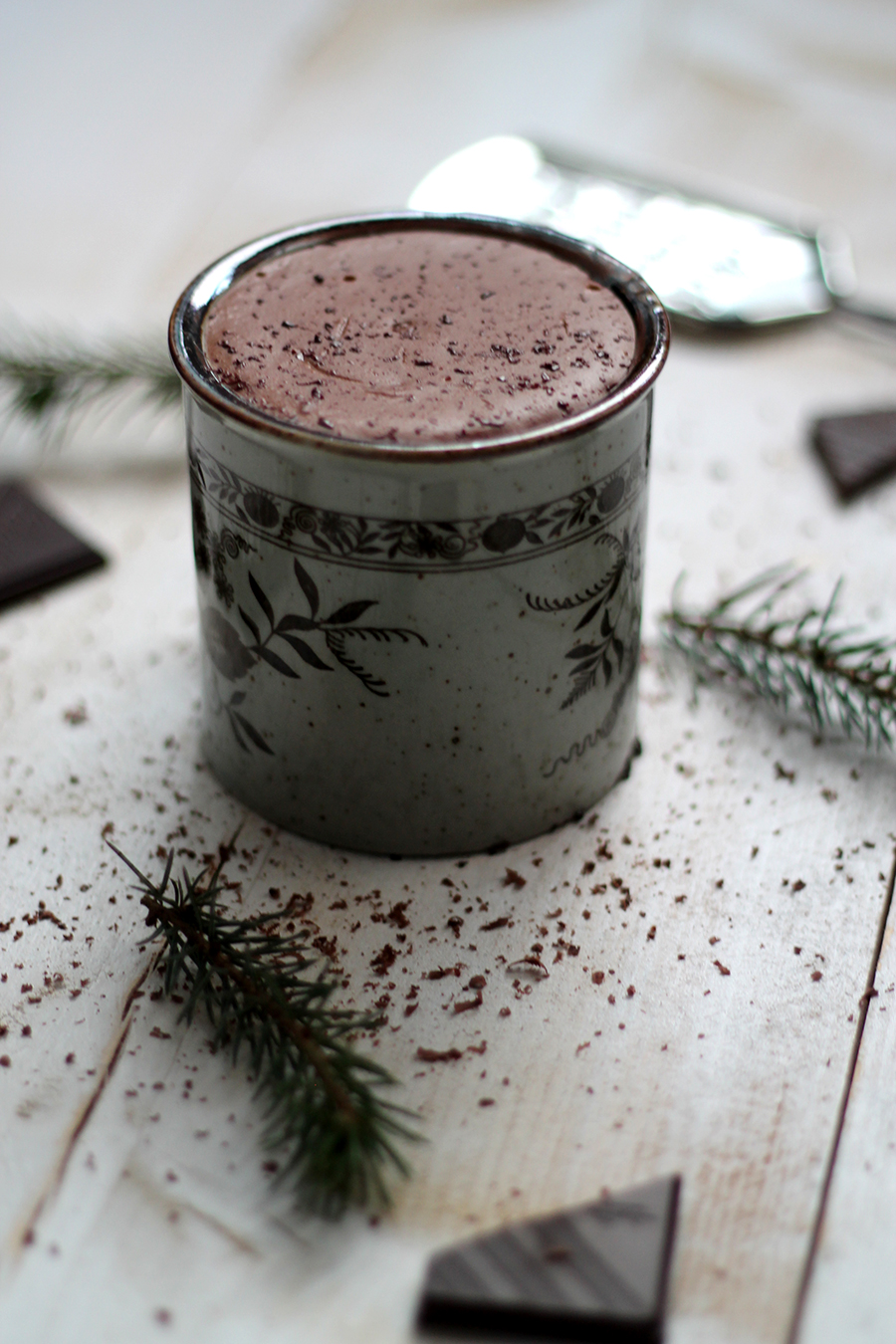 gezonde, warme chocolademelk; healthy hot chocolate