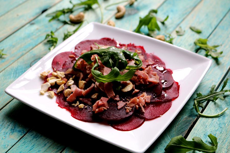 Bietencarpaccio, zelf maken, rode bieten recept