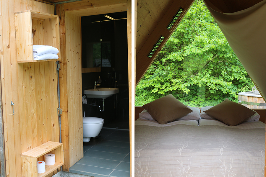 Glamping in Slovenie, camping bled, Glamping hut op camping Bled