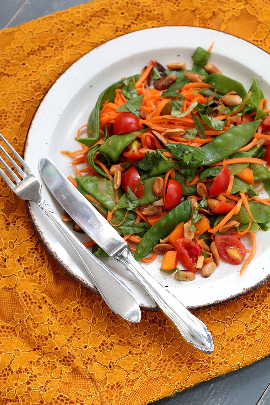 Gezonde lunch om mee te nemen: Thaise Salade