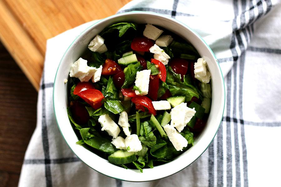 Gezonde meeneem lunch: Bulgur met spinazie en fetakaas