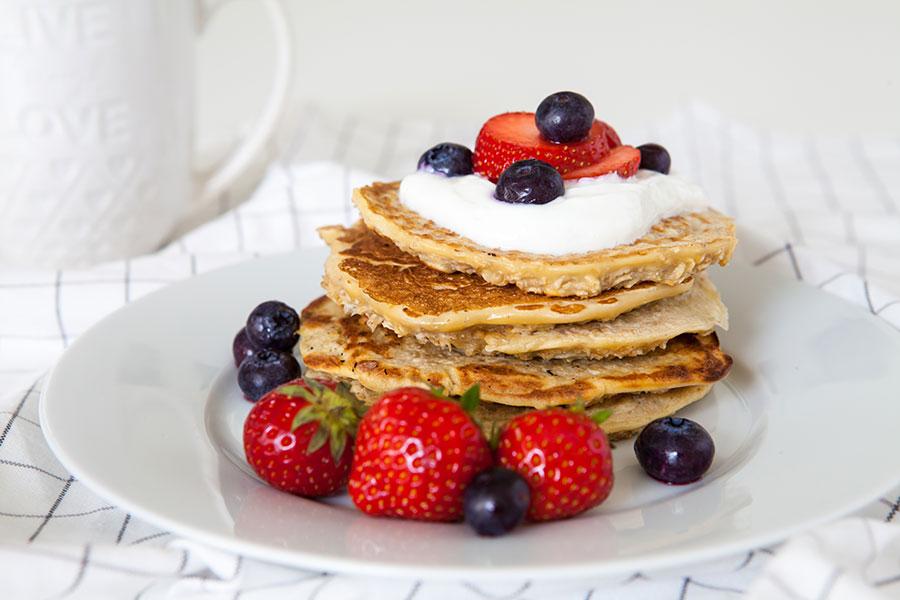 Gezonde lunch om mee te nemen: gezonde pannenkoeken