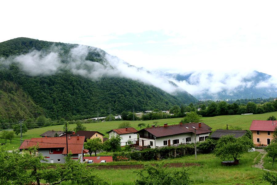 roadtrip Slovenie, tolmin farmhouse