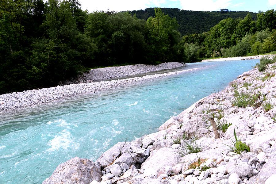 roadtrip Slovenie, soca river