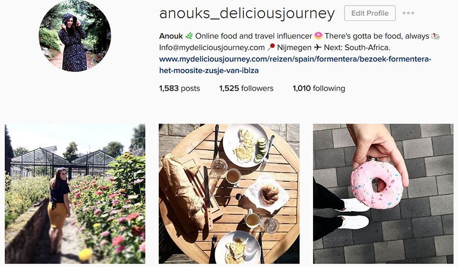 social media, instagram anouks_deliciousjourney