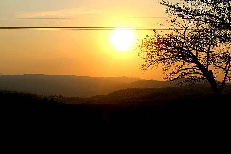 drakensbergen-zonsondergang