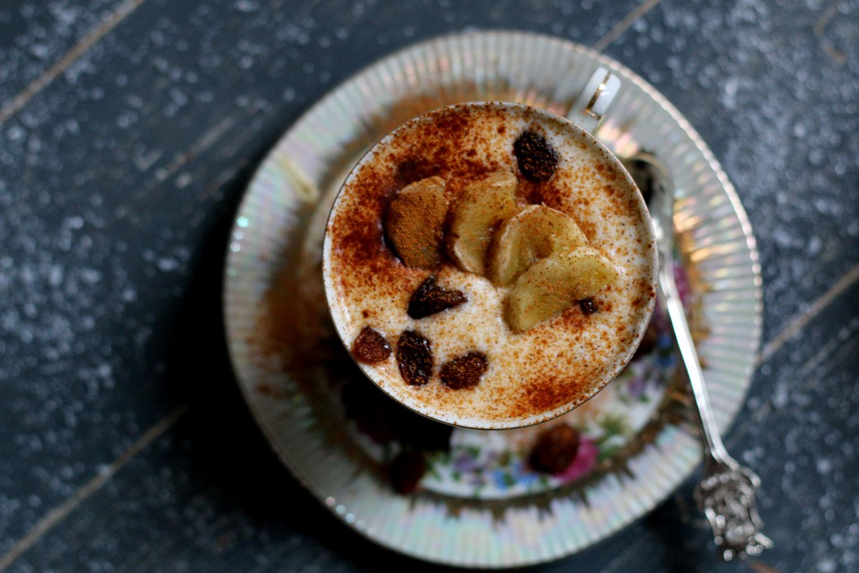 gezond kerstdessert, bananenyoghurt