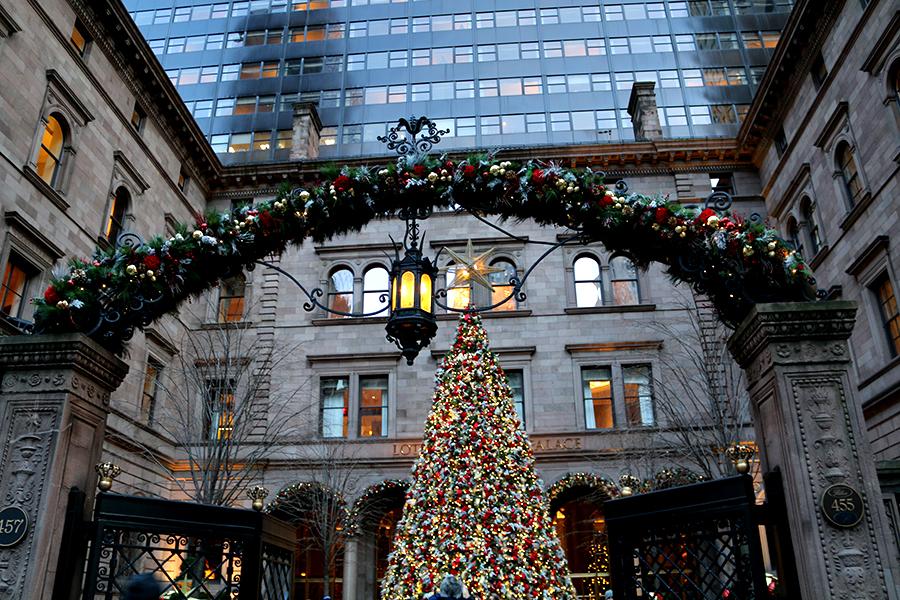 kerstbomen spotten in New York