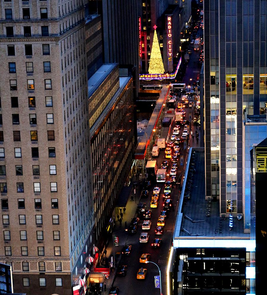 kerstboom spotten in New York