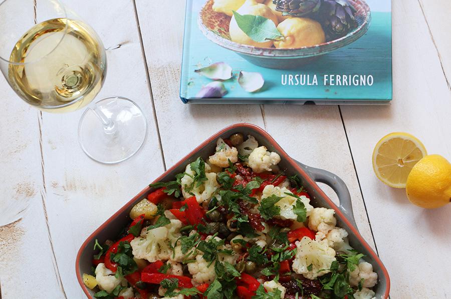De smaak van sicilie - een frisse bloemkoolsalade
