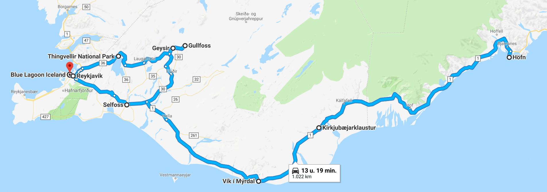 Roadtrip IJsland: onze route van 1 week