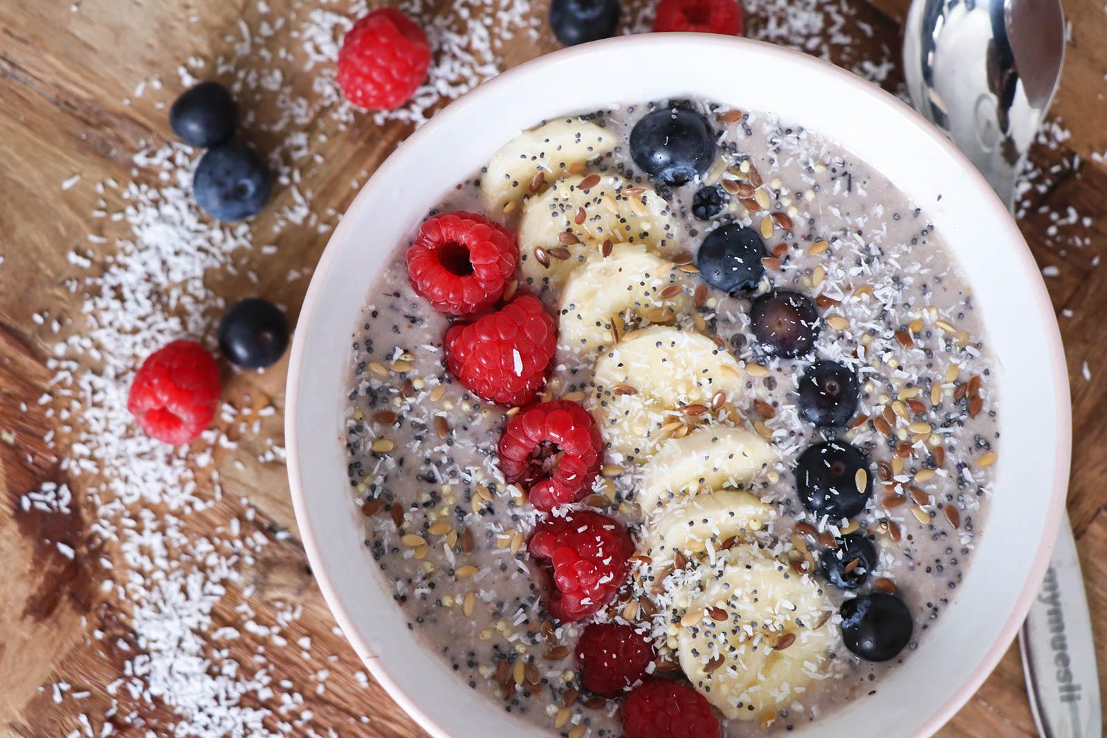 ontbijt met smoothiebowl