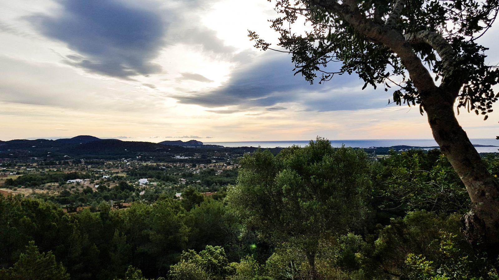 Ibiza stormachtige ochtend