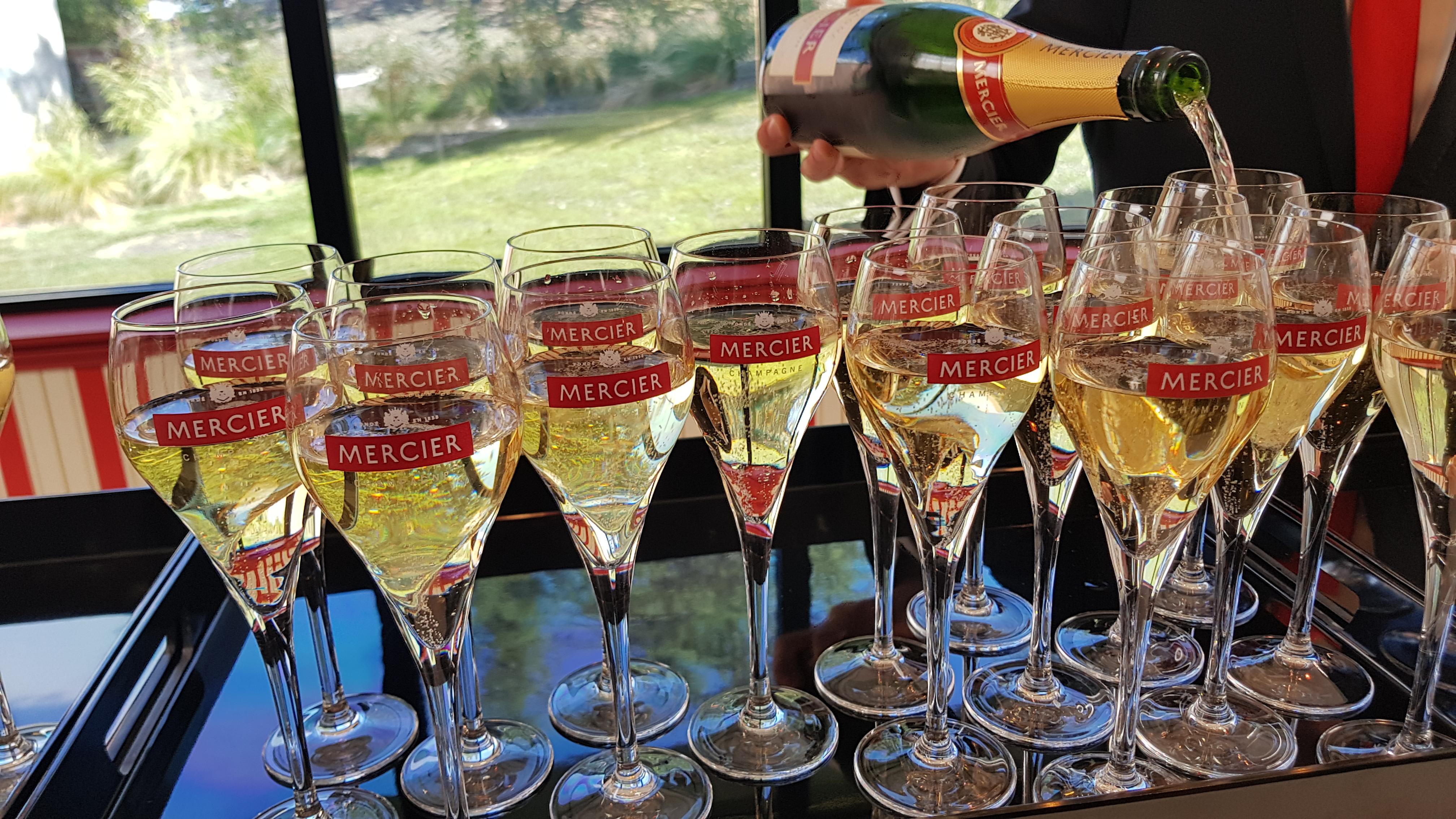 Champagne bij Mercier