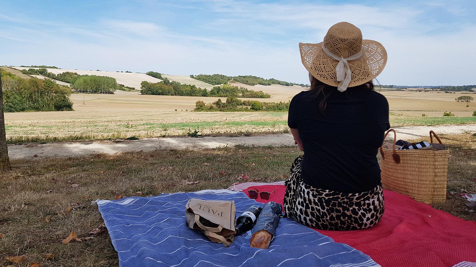 Picknick richting Bourgogne