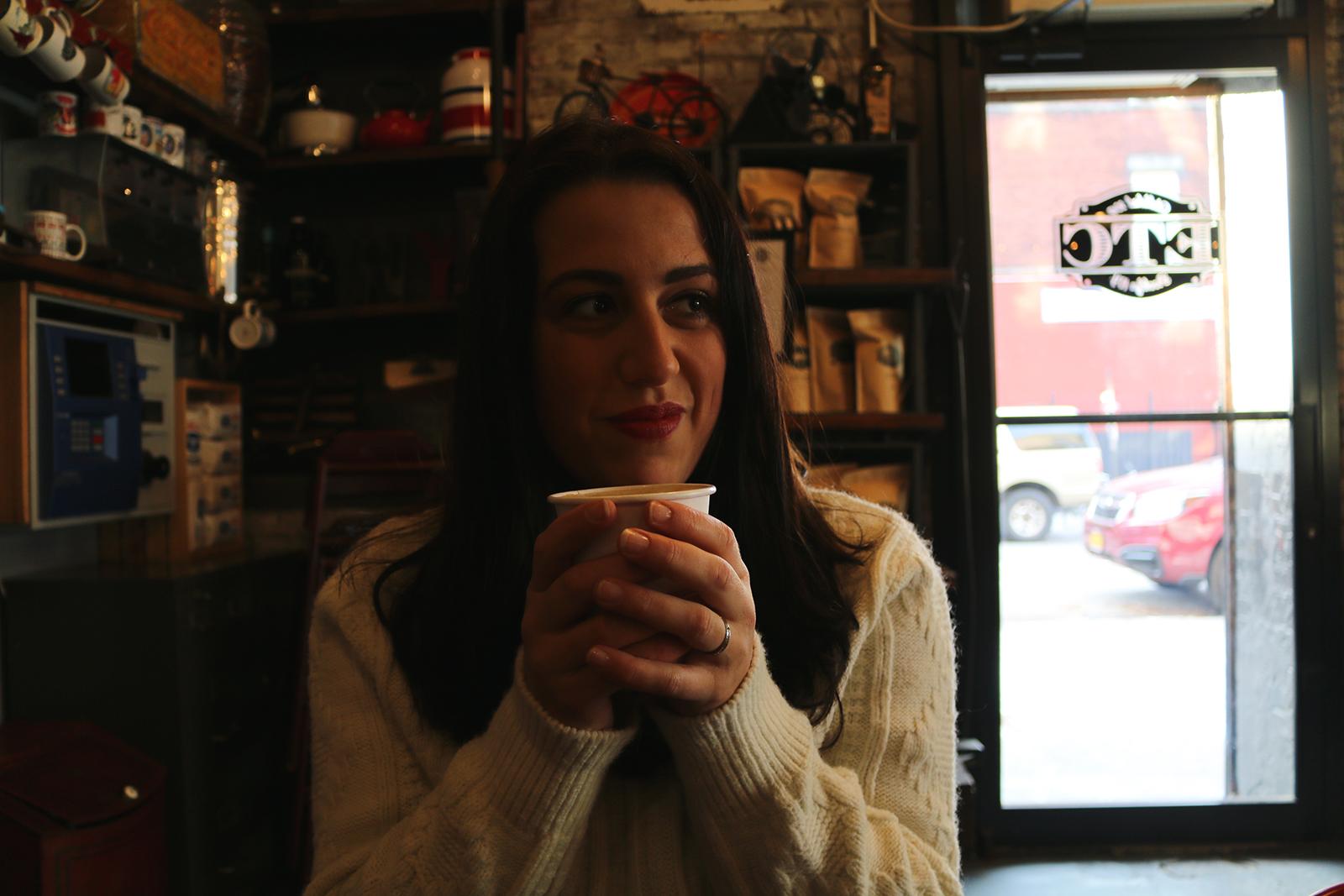 New York in december: koffie