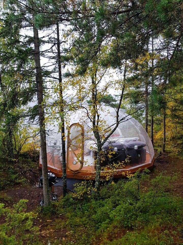 overnachten in Trones Eye Dome