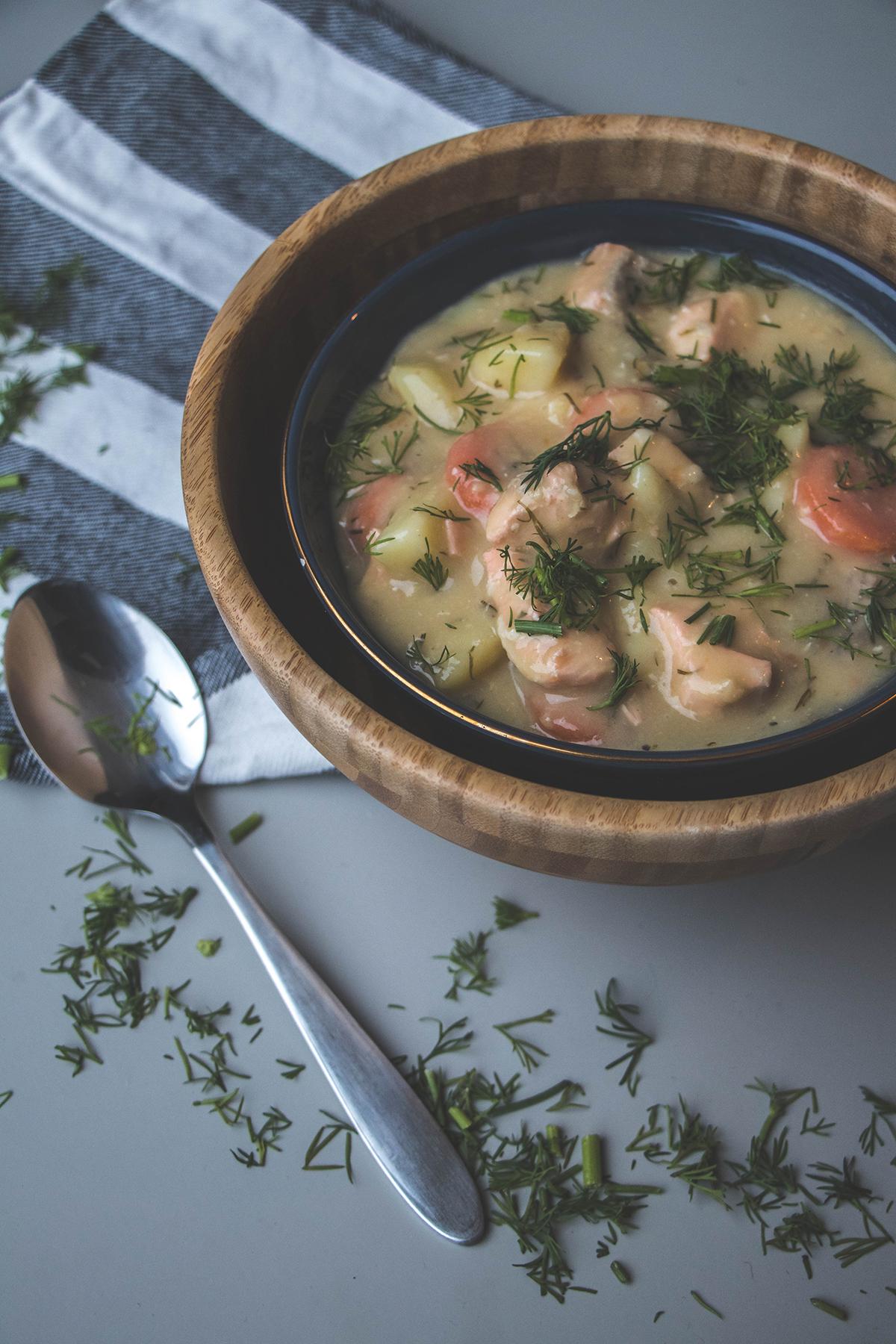 Recept: Finse zalmsoep