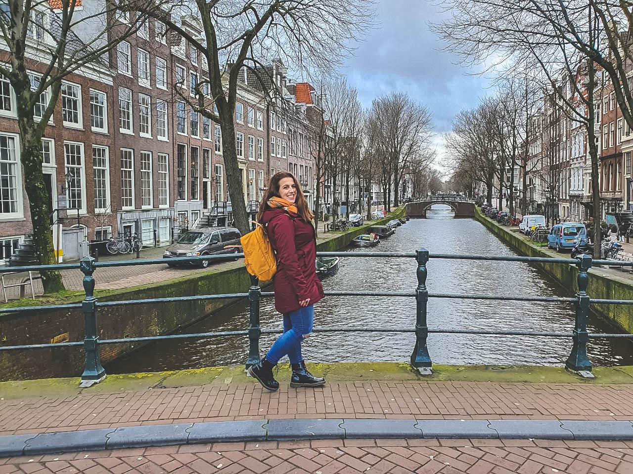 Rugzak mee door Amsterdam