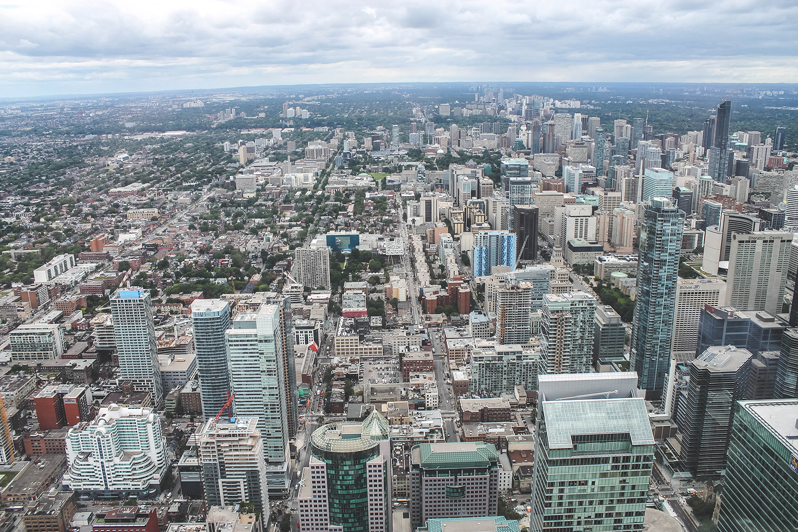 View van de CN Tower Toronto