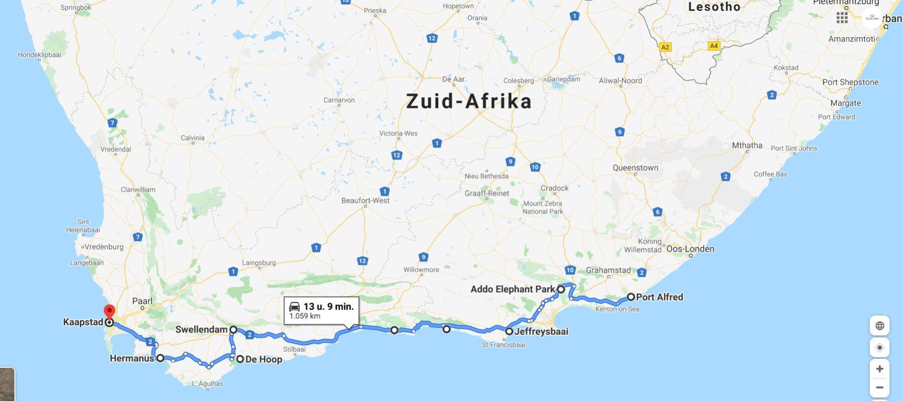 Garden-Route-Map