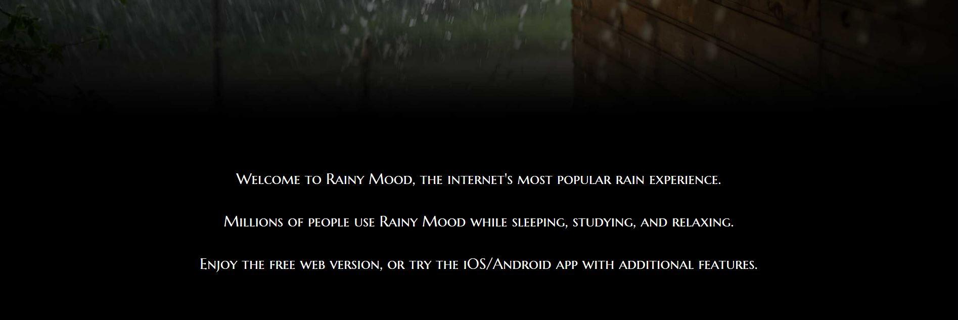 Thuiswerken: achtergrondgeluid Rainy Mood
