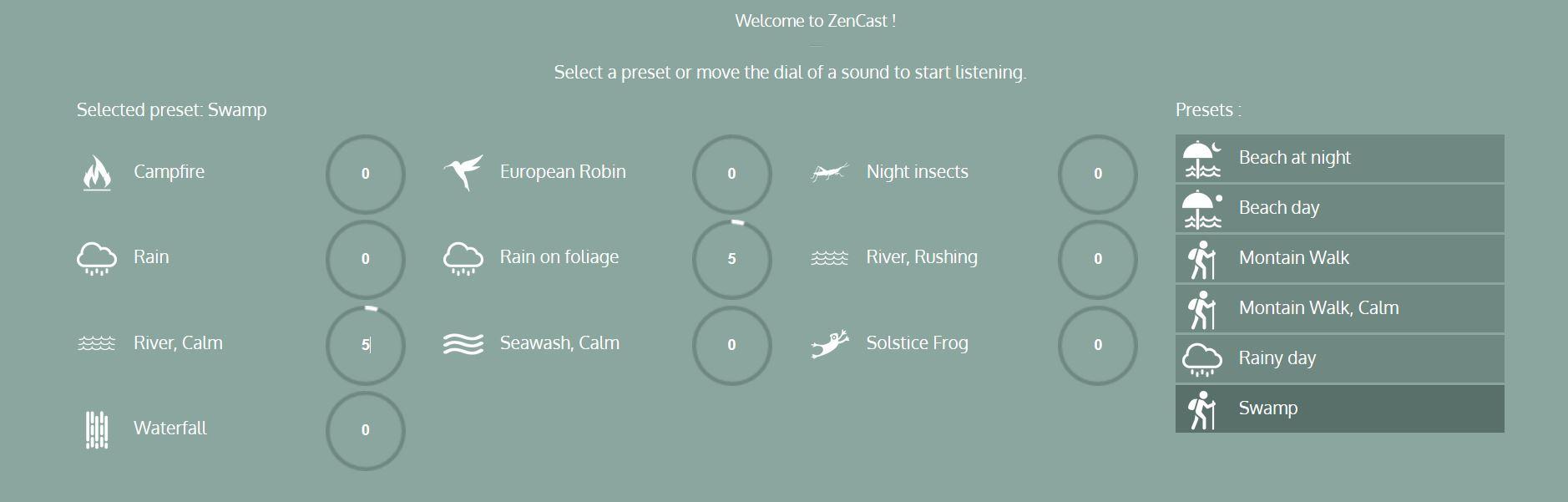 Zen Cast: achtergrondgeluiden