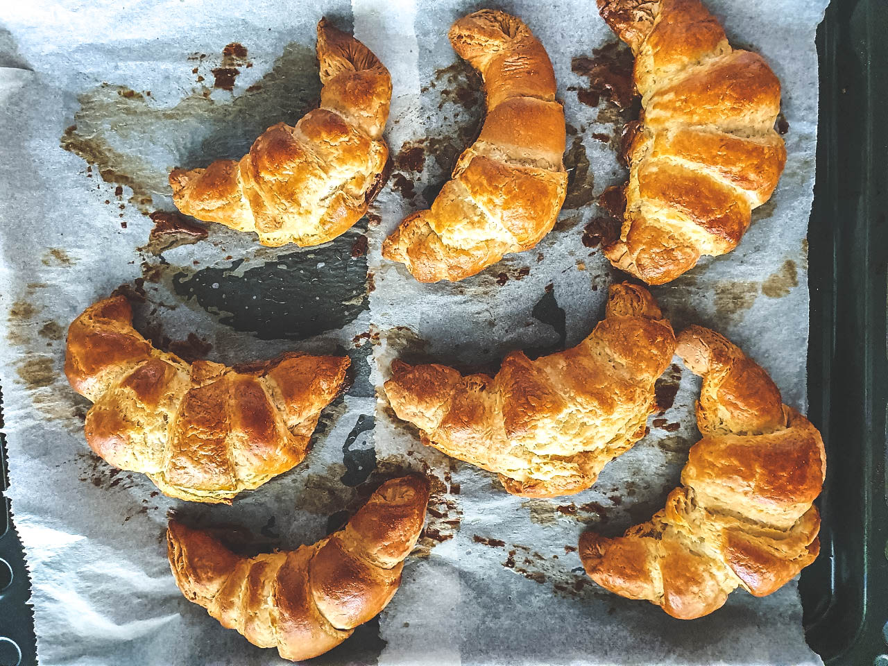 Croissantjes bakken