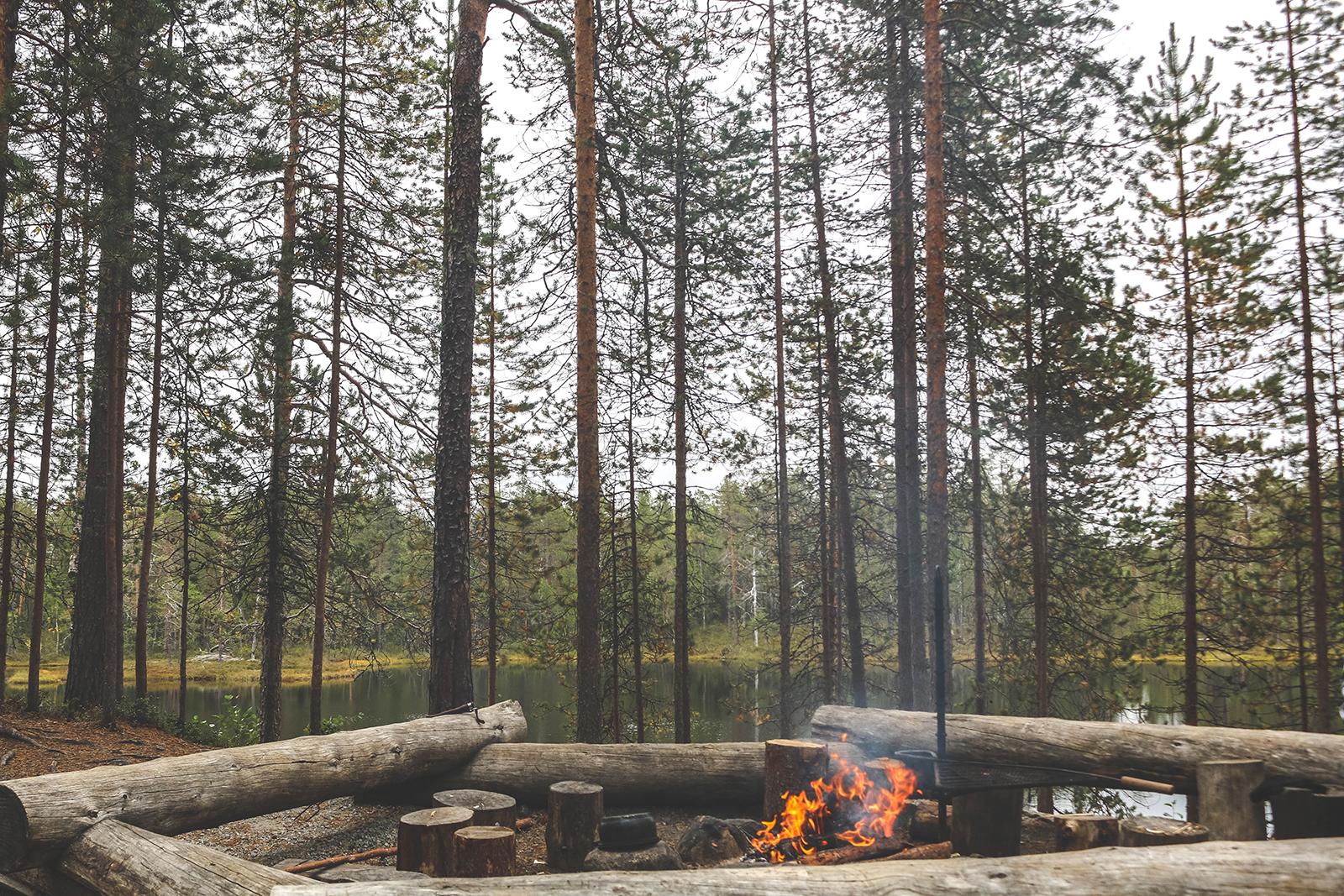 Kamperen Nederland met kampvuur
