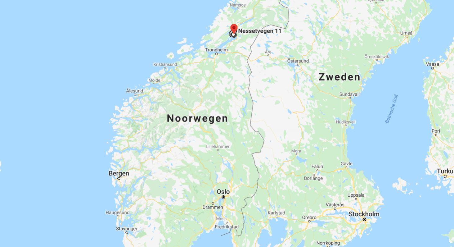 Golden Road in verhouding tot heel noorwegen